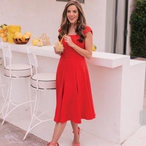 Gal Meets Glam NWT Regina Dress Venetian Red Dress